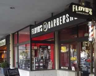 Floyd's 99 Barbershop in Boston, Massachusetts on Mass. Ave. in Fenway-Kenmore, Back Bay