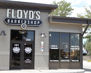 Floyd's 99 Barbershop on South College Avenue in Fort Collins, Colorado