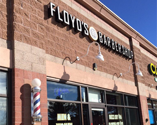 Floyd's 99 Barbershop on S Quebec St. near Lone Tree in Highlands Ranch, CO