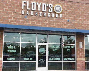 Floyd's 99 Barbershop on 53rd and Wadsworth near Olde Town Arvada, Colorado