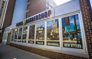 Floyd's 99 Barbershop in the South Loop of Chicago, IL